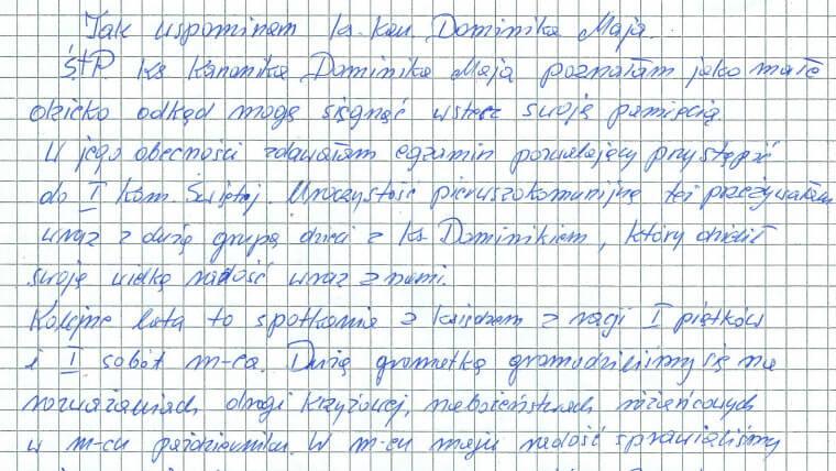 Ks kan Dominik Maj – wspomnienie Stanisławy