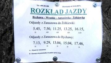 Rozkład jazdy Bychawa Zaraszów Wysokie Antoniówka Żółkiewka