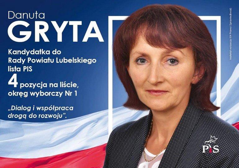 GRYTA Danuta Elżbieta - PiS wybory 2018