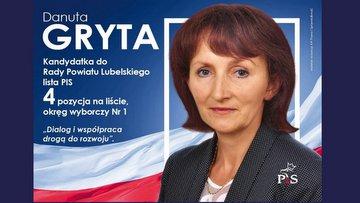 GRYTA Danuta Elżbieta 2018 do rady powiatu