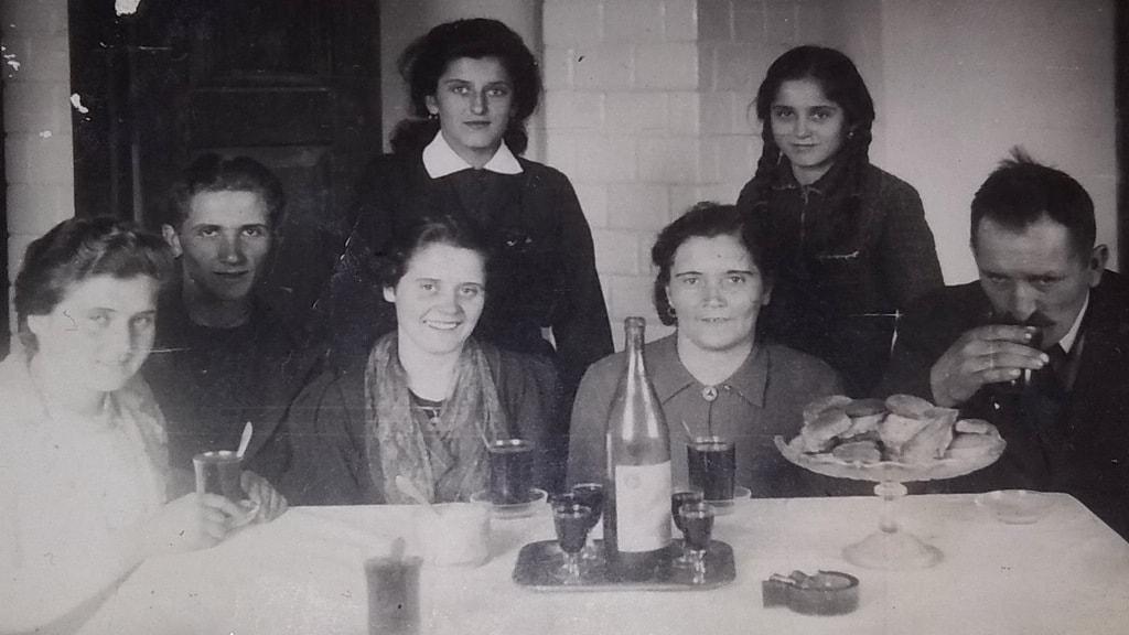 Zdjęcie ślubne J. Kulika (po lewej)